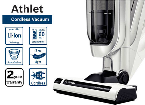 Bosch BCH625KTGB 25.2v Athlet Cordless Upright Vacuum Cleaner​