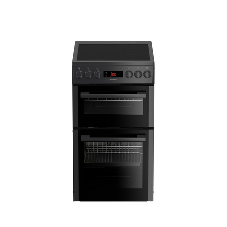 Click to view product details and reviews for Hks951n 50cm Double Oven Electric Cooker With Ceramic Hob Anthracite.