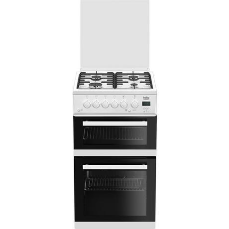 Edg506w 50cm Twin Cavity Gas Cooker With Glass Lid