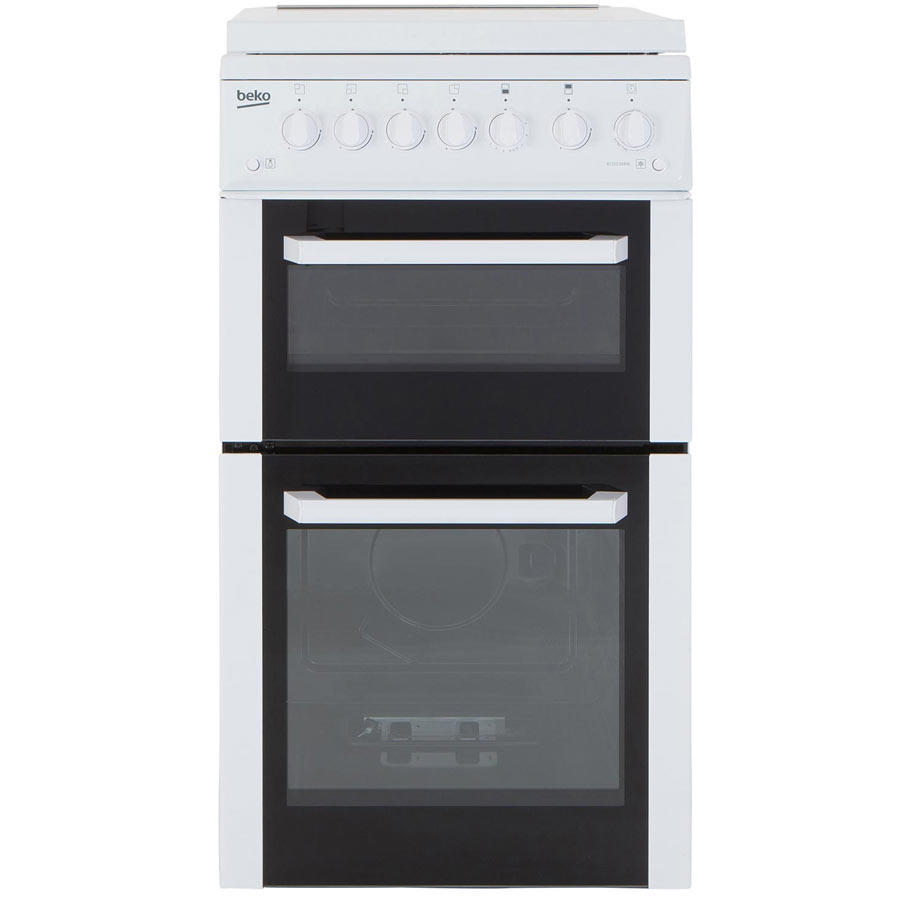 Beko BCDG504W 50cm Twin Cavity Gas Cooker