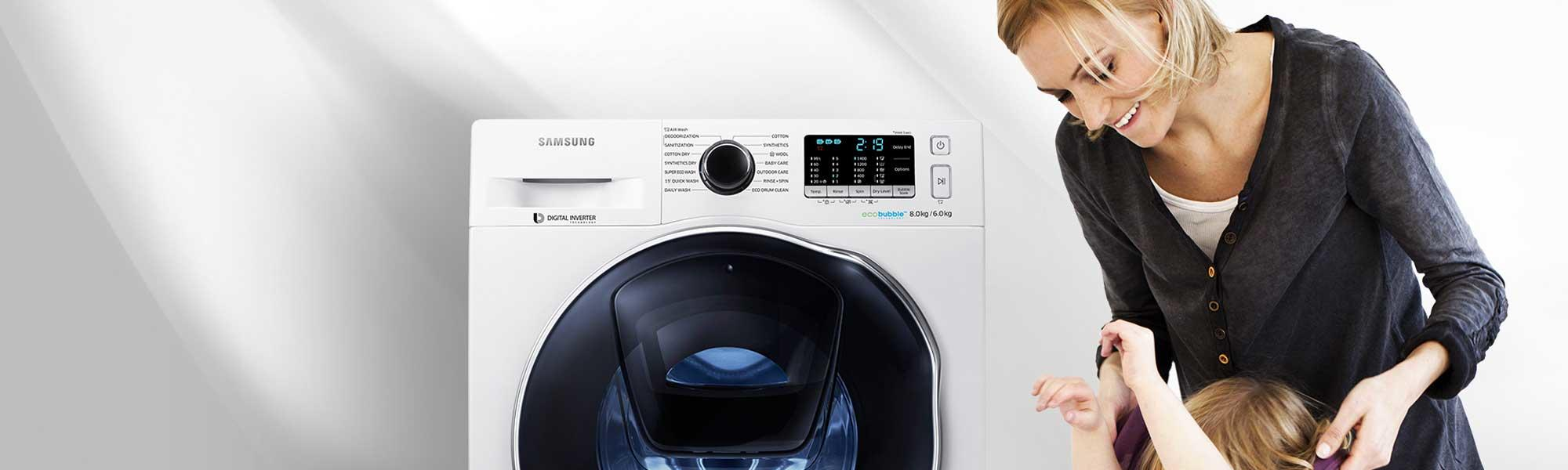 Samsung WW80K6610QW 8Kg 1600 Spin AddWash Washing Machine