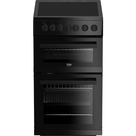 Edvc503b 50cm Double Oven Electric Cooker With Ceramic Hob Black