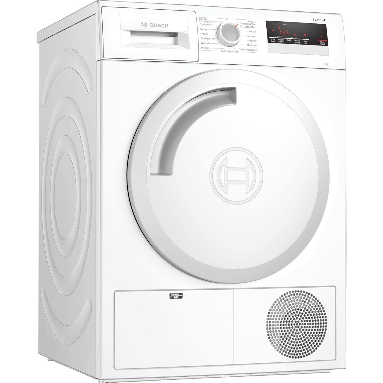 Image of Serie 4 WTN83201GB 8Kg B Rated Condenser Tumble Dryer | White