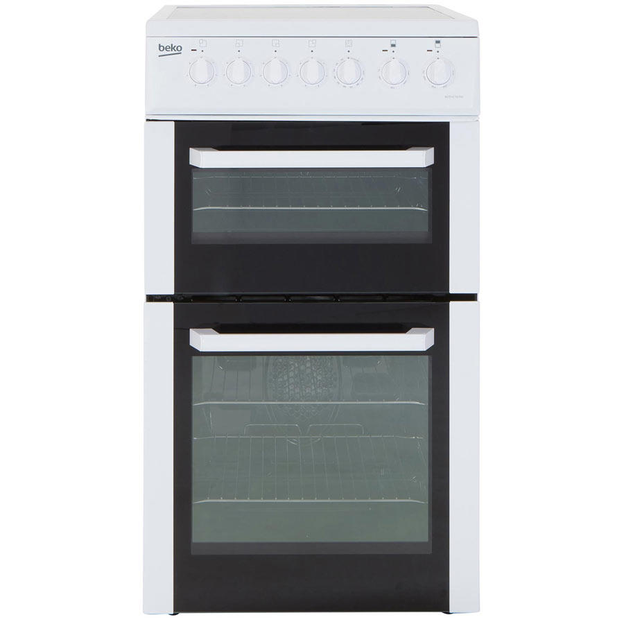 Beko BCDVC503W 50cm Double Oven Electric Cooker
