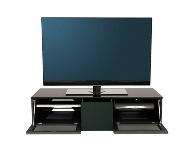 Alphason EMT1250CB BLACK ELEMENT TV STAND