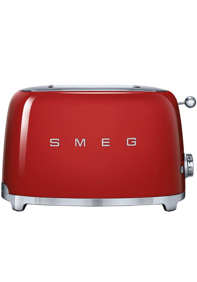 Image of 50's Retro TSF01RDUK 2 Slice Toaster in Red