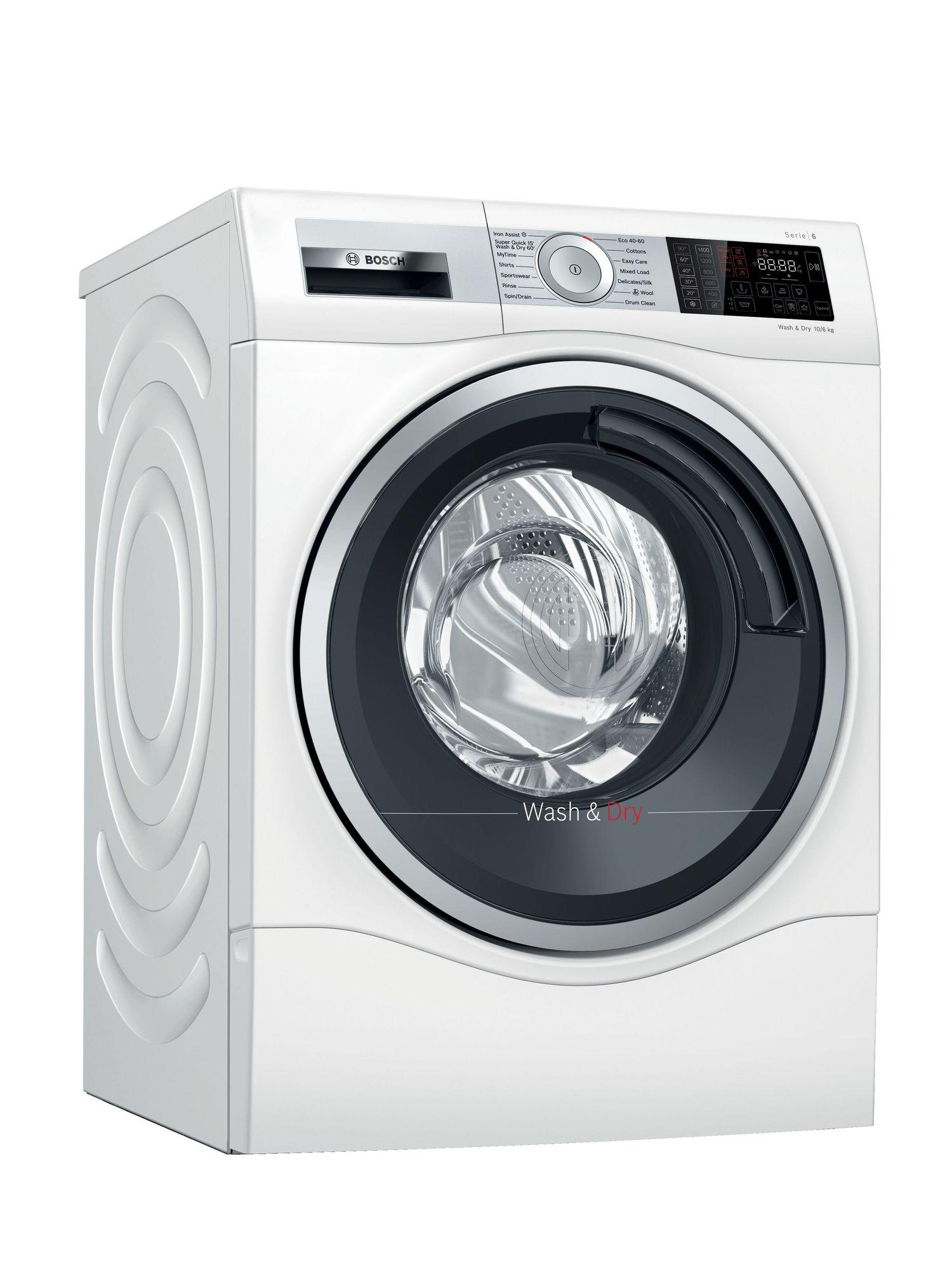 Image of Serie 6 WDU28561GB 10Kg Wash 6Kg Dry 1400 Spin B Rated Washer Dryer | White