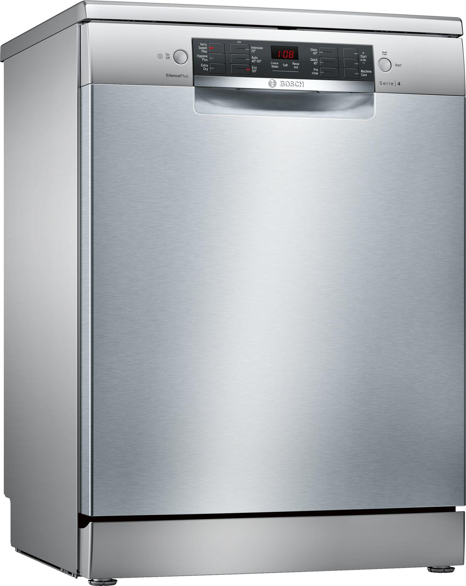Image of Serie 4 SMS46II01G 60cm A++ Standard Dishwasher   Inox Silver