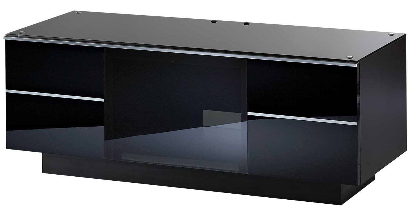 UKCF GG110 ULTIMATE 1100MM BLACK TV STAND