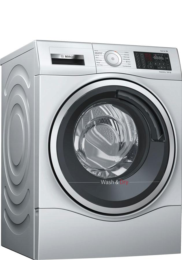Image of Serie 6 WDU28568GB 10Kg Wash 6Kg Dry 1400 Spin A Rated Washer Dryer | Silver