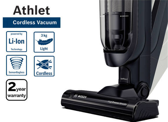 Bosch BCH62550GB 25.2v Athlet Cordless Upright Vacuum Cleaner
