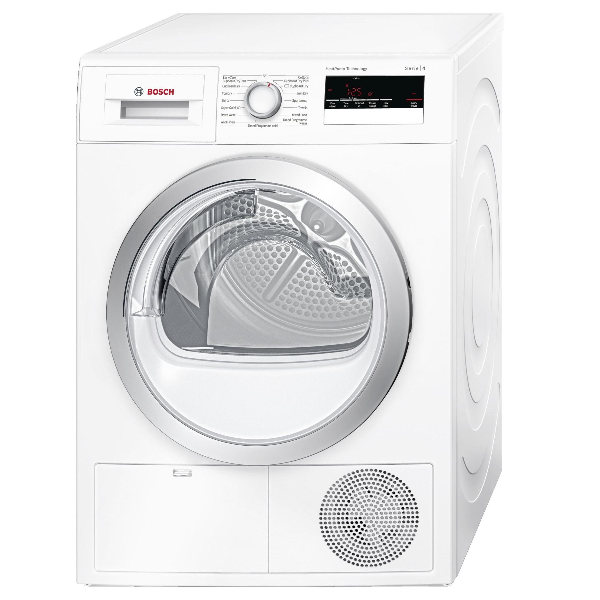 Image of Serie 4 WTR85V21GB 8Kg Heat Pump A++ Condenser Tumble Dryer | White