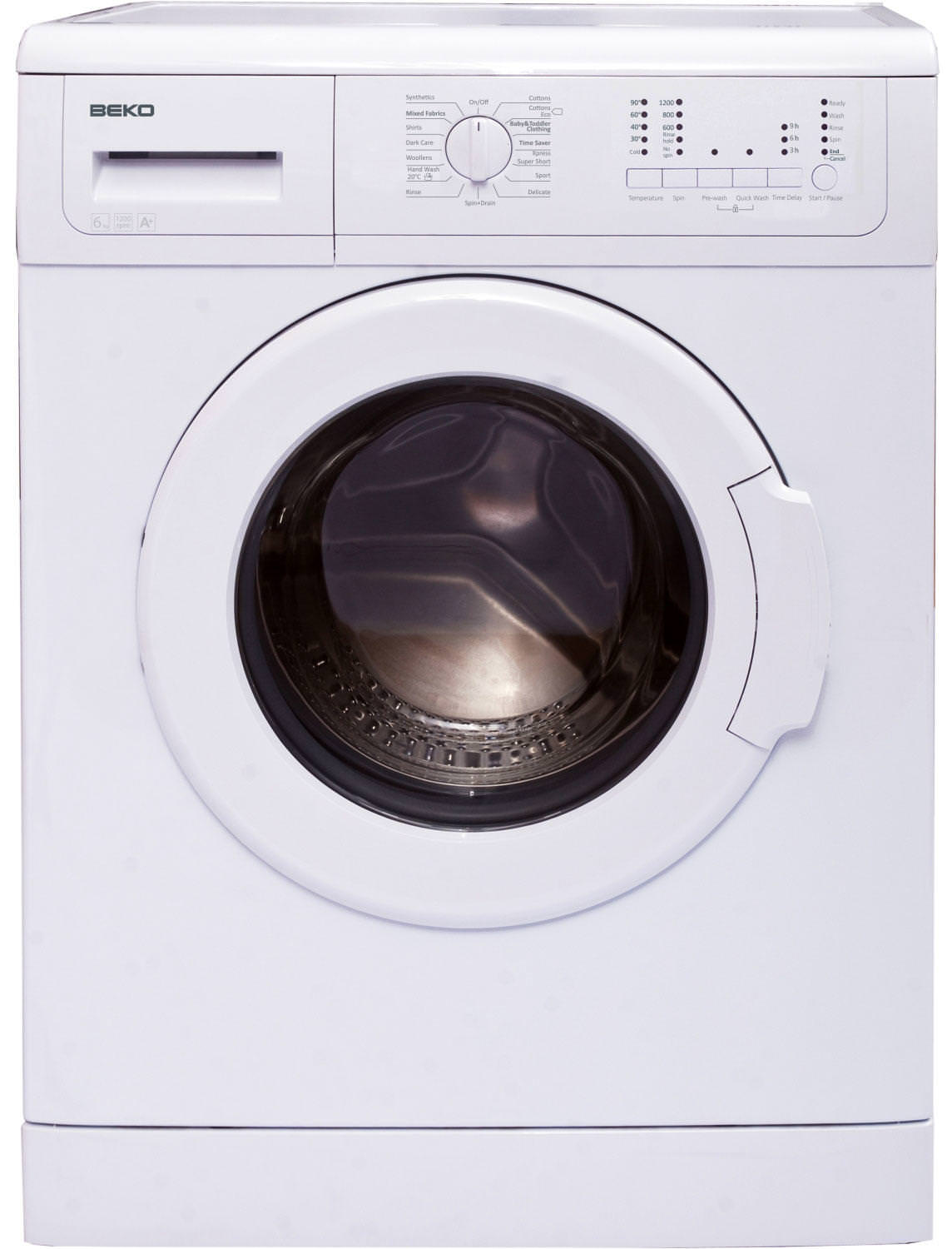 Beko WMC126W 6 Kg 1200 Spin Freestanding Washing Machine