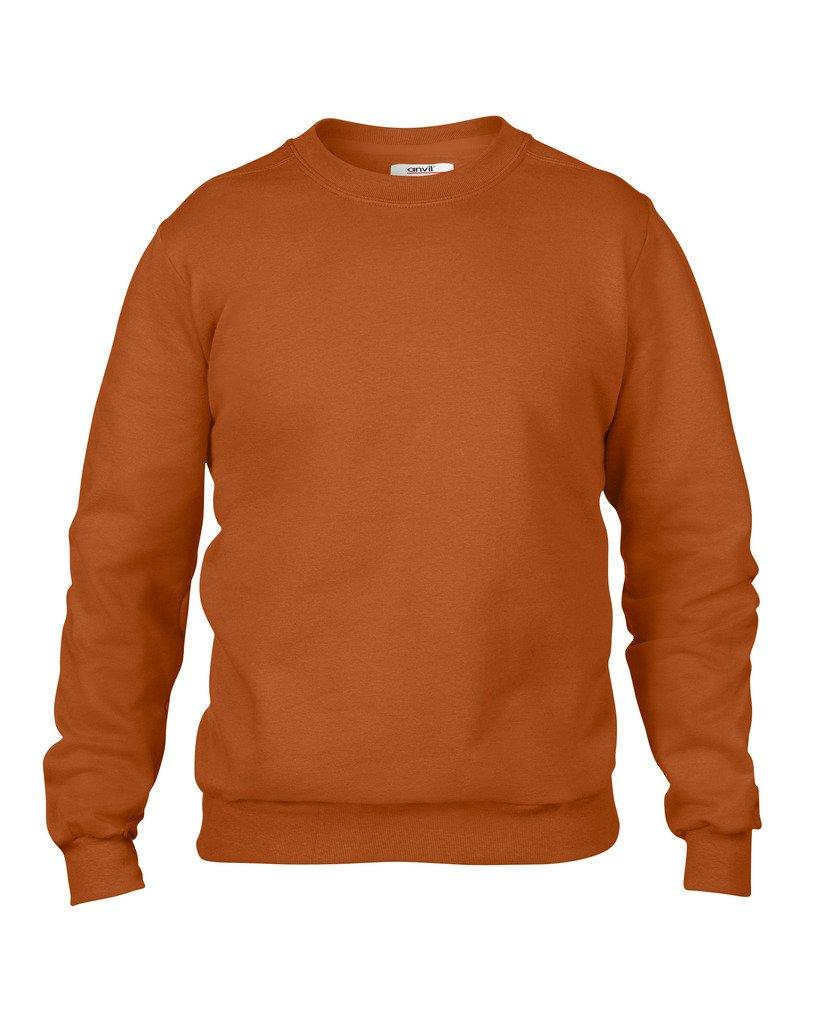 12f30e5ff Anvil Men's Long Sleeved Crew Neck Set-In-Sweatshirt Adults Casual ...