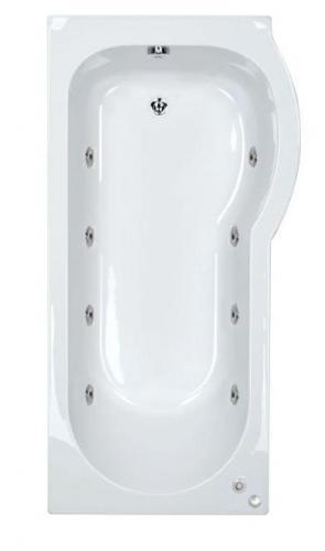 RH 8 Jet Whirlpool Space Saver Shower Bath