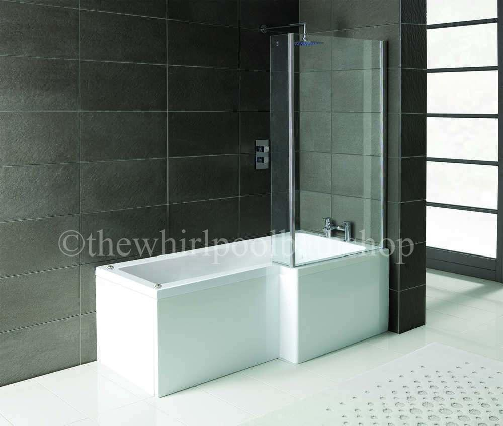 Rh Oceania 12 Jet L Shape Whirlpool Shower Bath