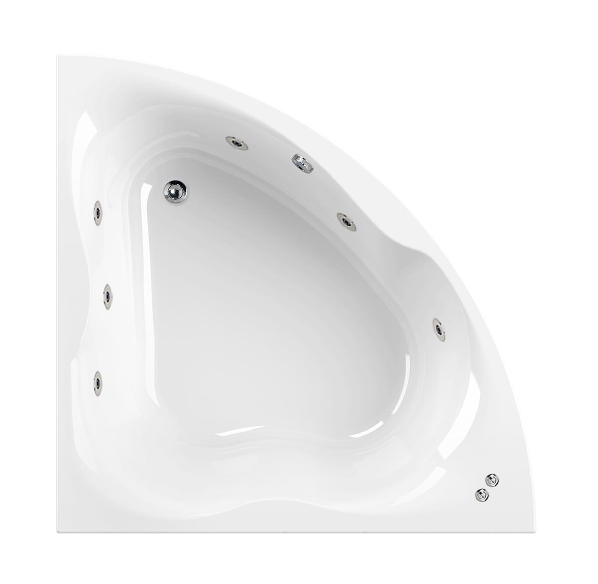 Aquaestil 1400 mm Gloria 6 Jet Whirlpool Corner Bath