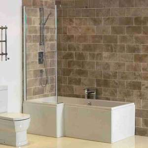 L Shape Whirlpool Shower Baths