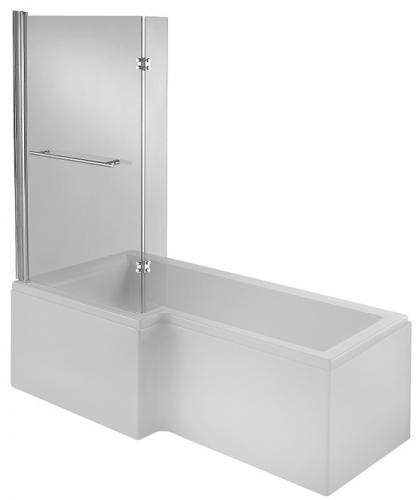 Left hand l shaped shower bath 23 jet whirlpool and spa for Whirlpool shower bath suites