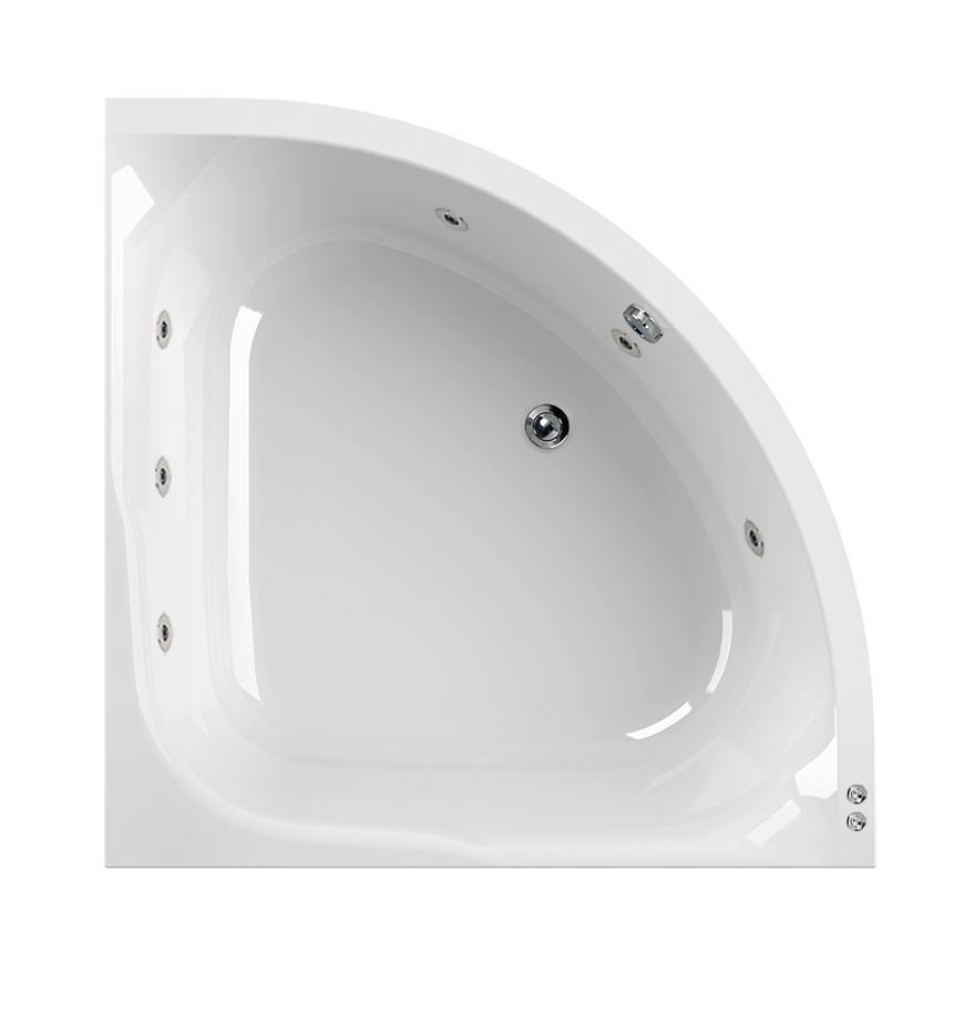 Aquaestil Satellite 1200mm Whirlpool Corner Bath