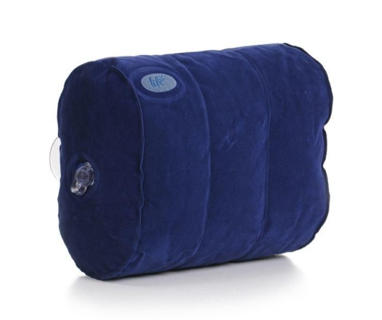 Blue Inflatable Bath Pillow