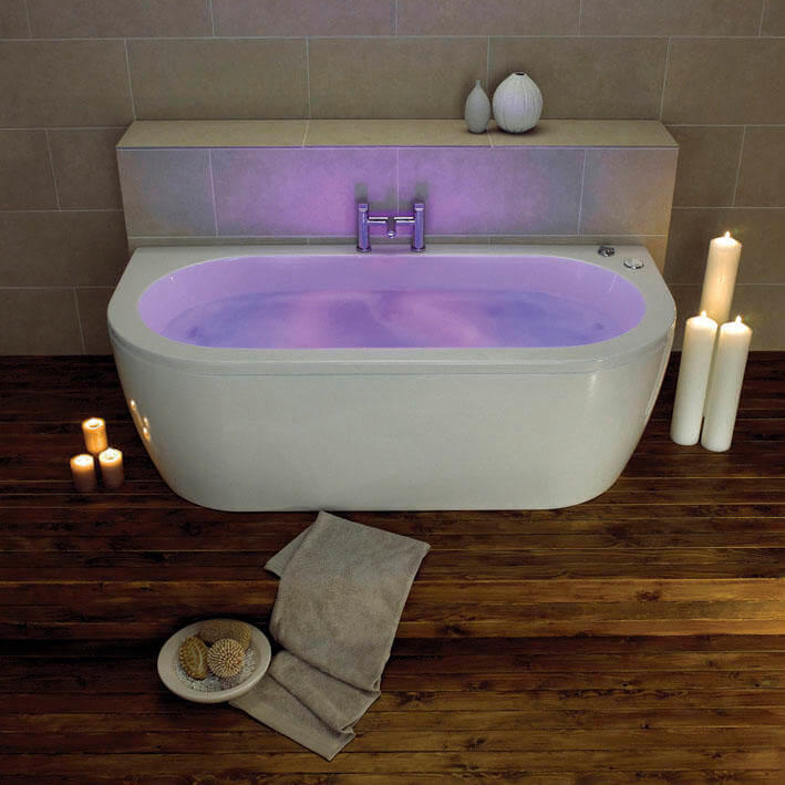 Trojan Decadence Whirlpool Jacuzzi 24 Jet Double Ended Chromotherapy