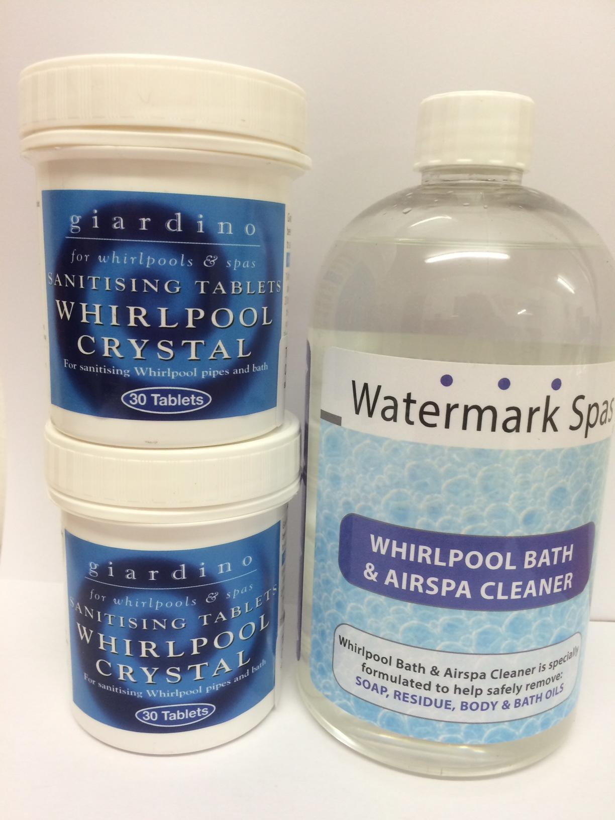 Whirlpool & Jacuzzi Bath Cleaning Pack   Free P&P