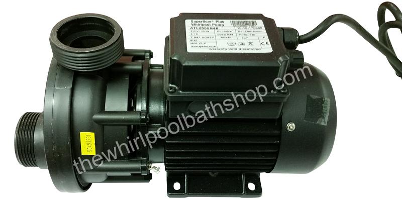 Spa-Tec 0.75 HP Superflow Plus Self Draining Whirlpool Bath pump ...