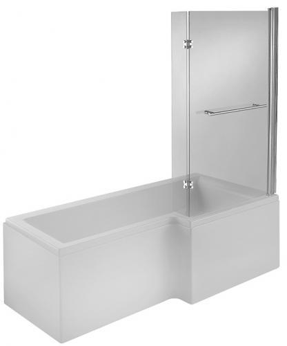 Right Hand 8 Jet L Shaped Whirlpool Shower Bath Baths
