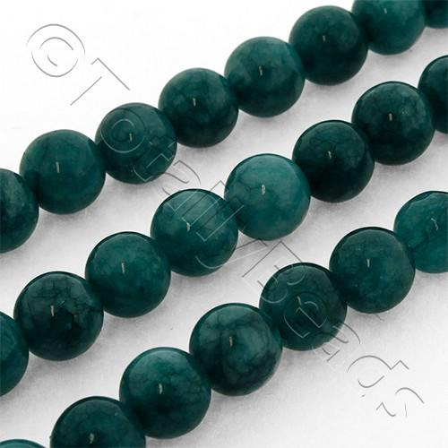Dyed Jade 6mm Round Beads 15 Quot String Blue Green Colour