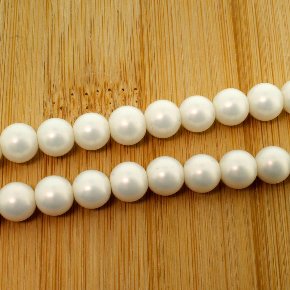 VARIOUS SIZES AVAILABLE WHITE GLASS PEARL CRAFT BEADS