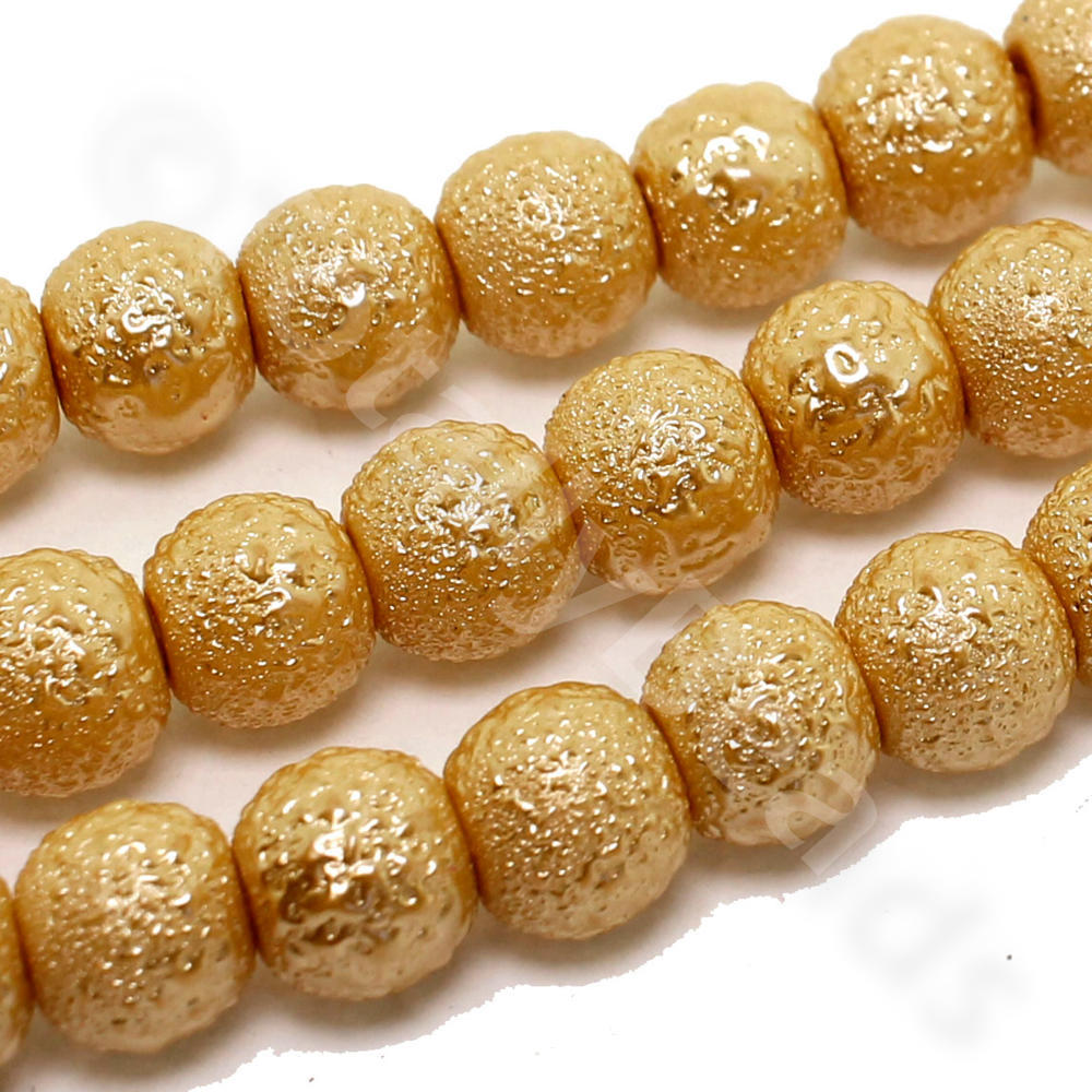 matte products czech pony craft beads large supplies hole gold metallic roller crow glass fifty