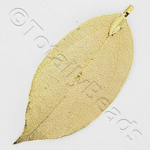 Electroplated Large Leaf - Gold | Craft, hobby & jewellery