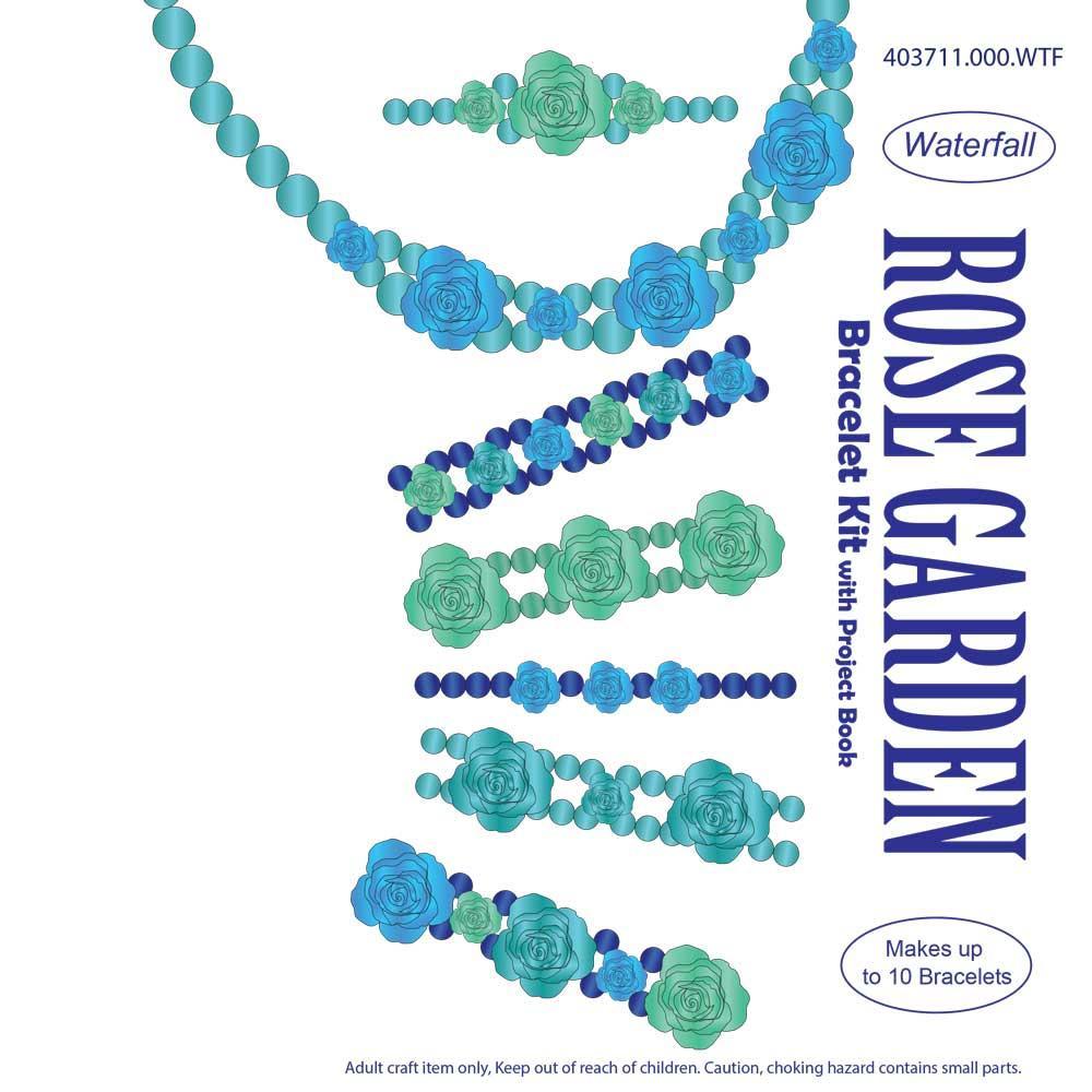Rose Garden Bracelet Kit Aqua Craft Hobby Jewellery Supplies Totally Beads