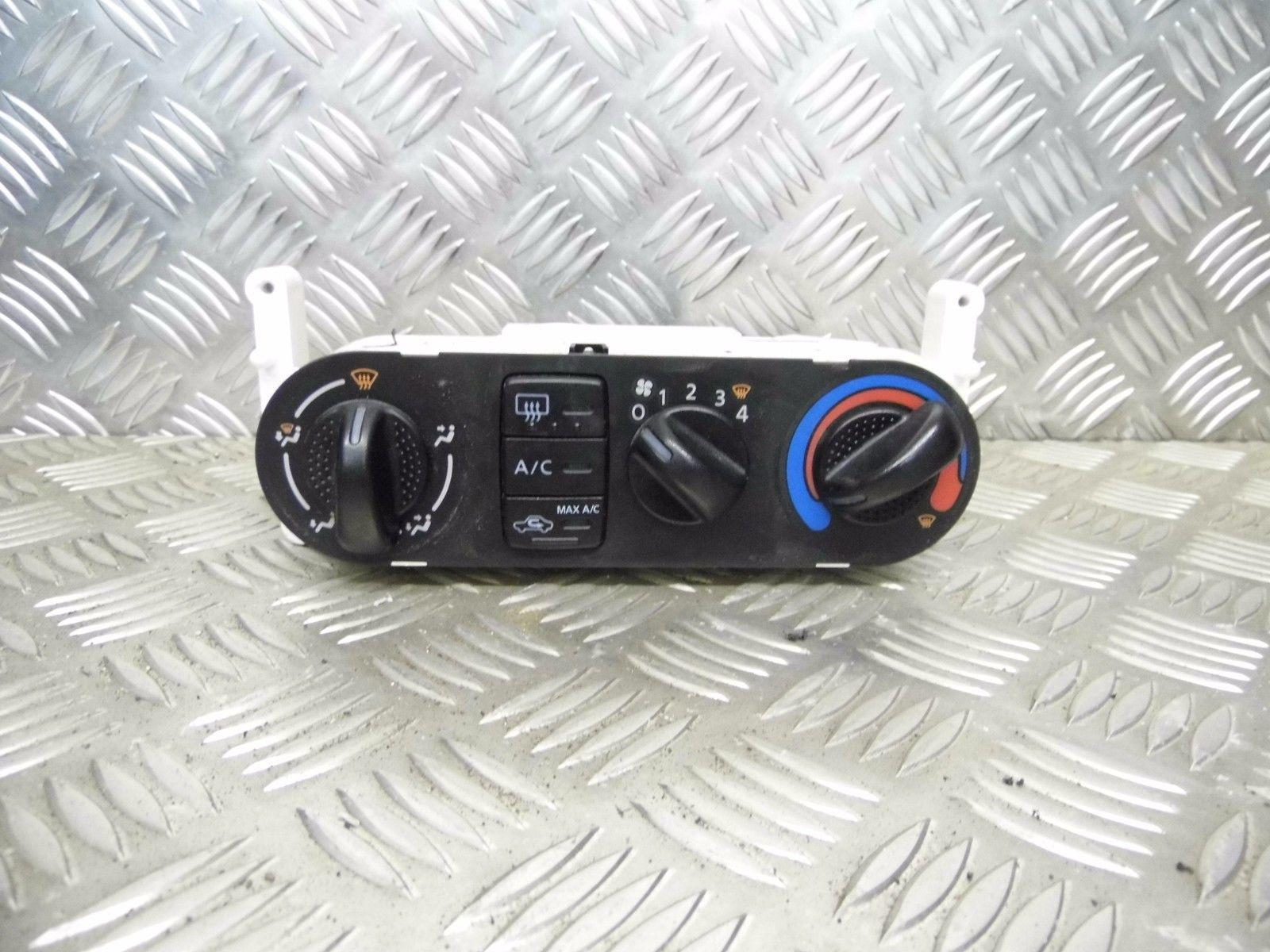 Used 2004 Nissan Almera Hatchback Heater Control Panel With A C Fuse Box Front View