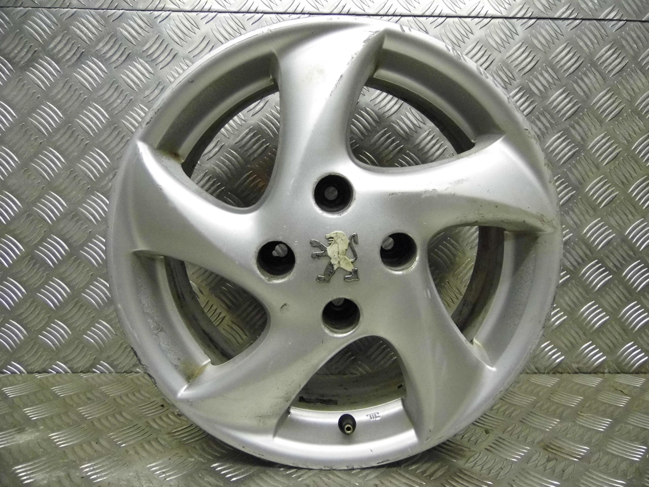 Used 2002  52  Peugeot 206 Estate 6j X 15 Inch 4 Stud Alloy Wheel  1