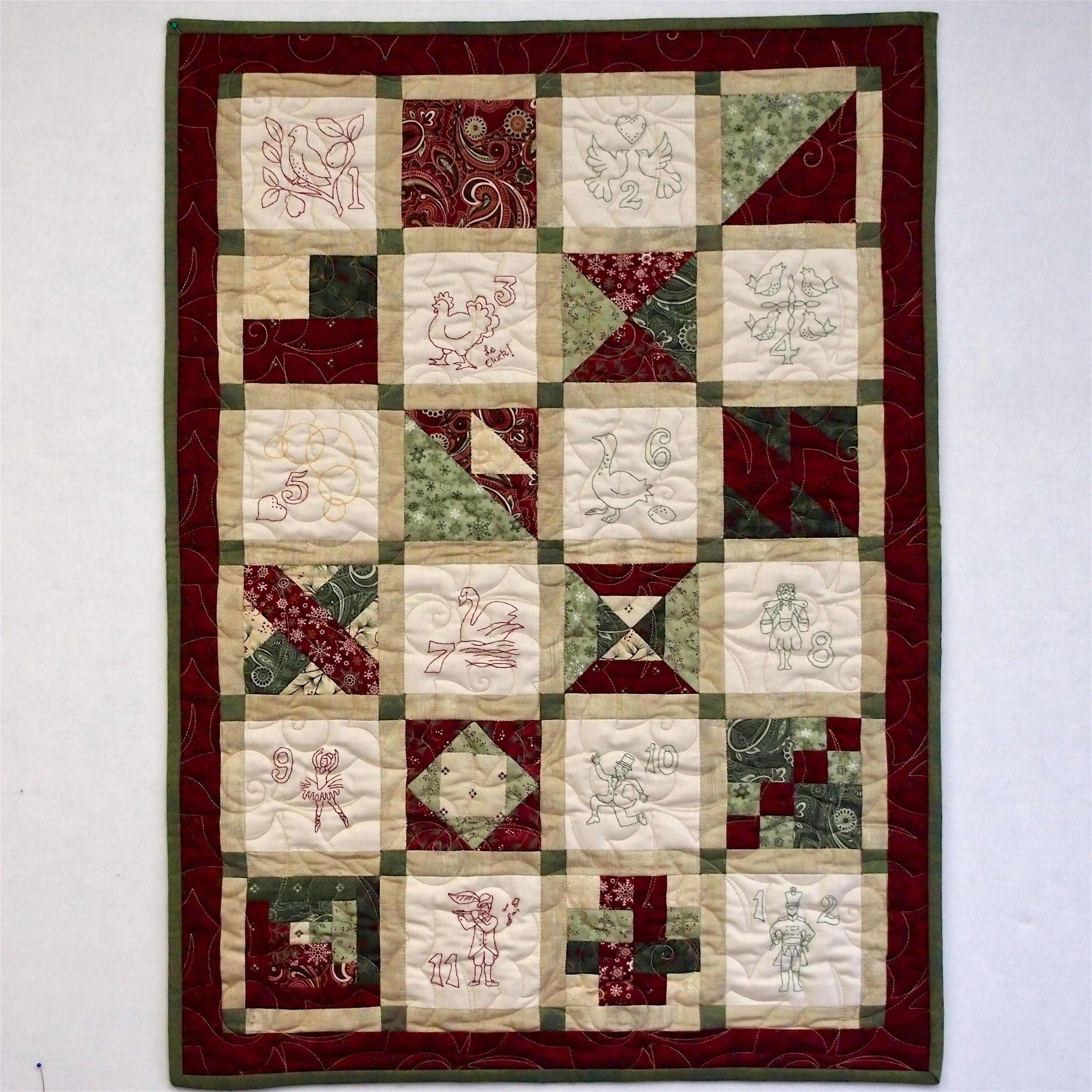 Christmas Quilt.12 Days Of Christmas Quilt Kit Machine Piecing