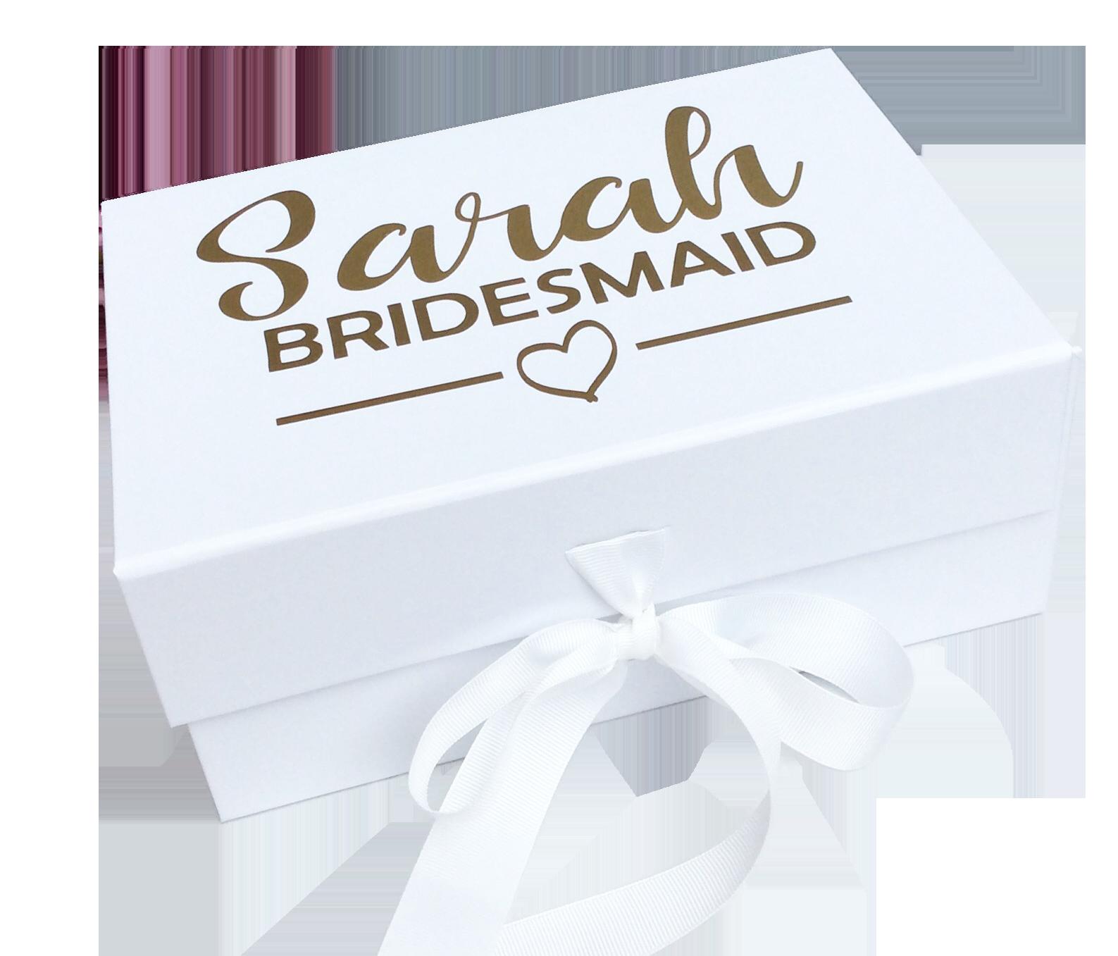 Personalised Bridesmaid Box Kiss Air Candles