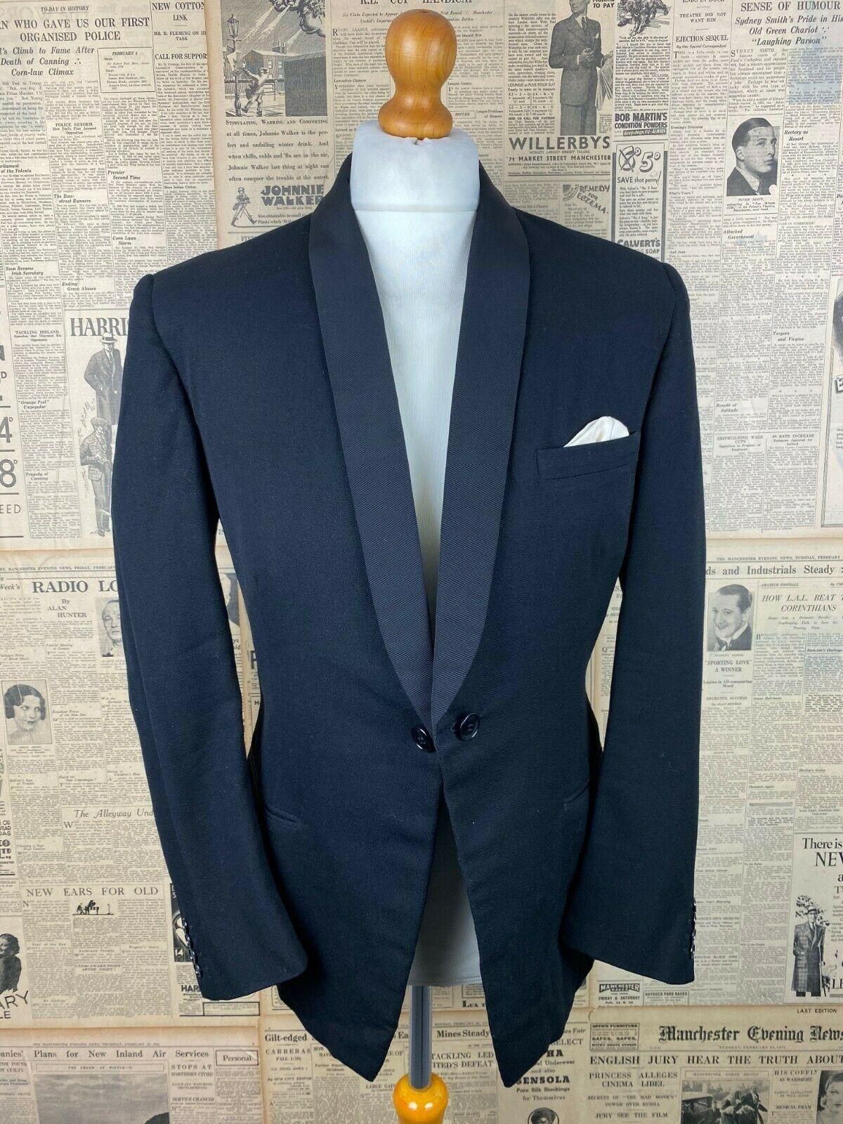 Vintage Austin Reed 1960 S Shawl Collar Dinner Jacket Dj Size 40 42