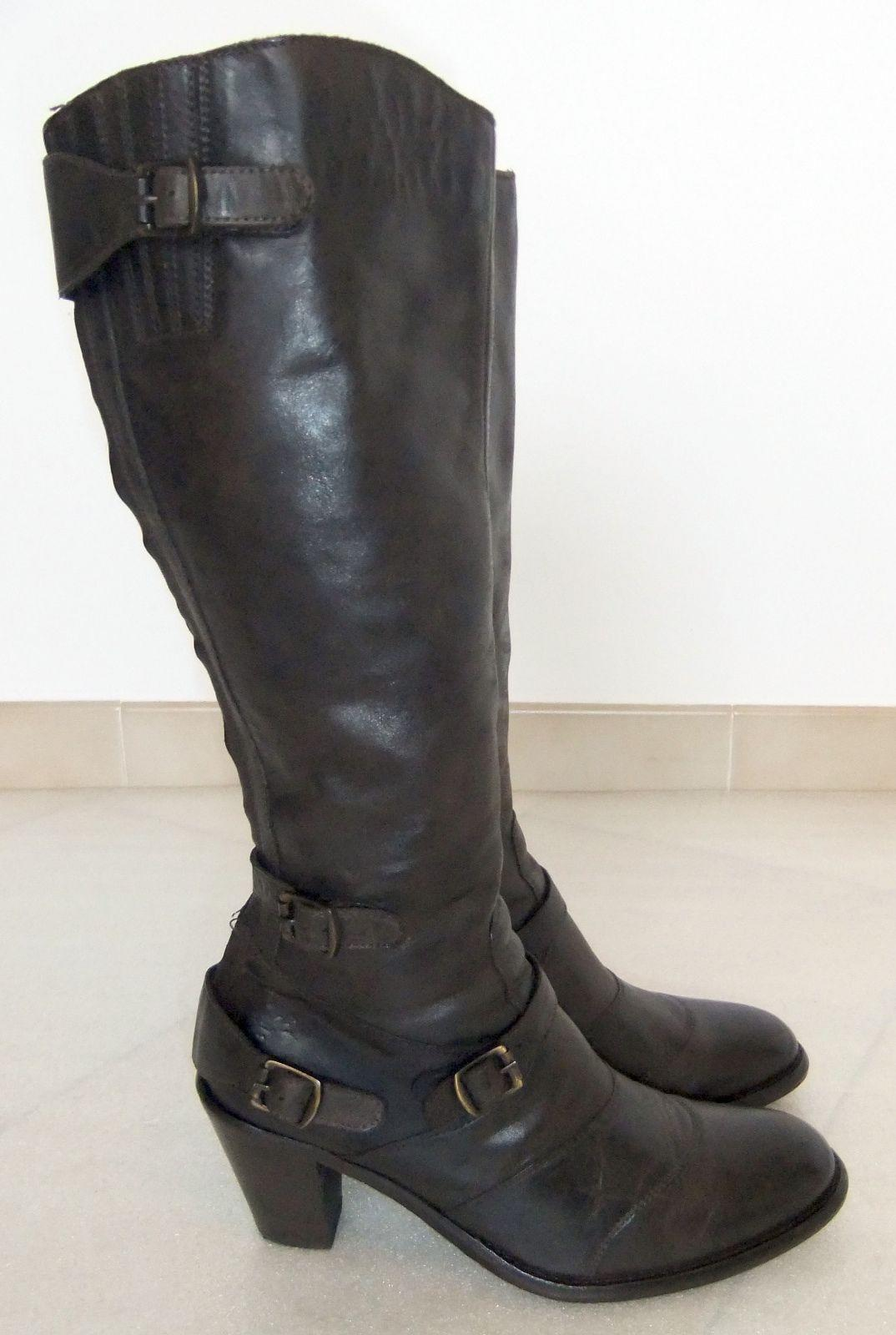 temor Leopardo todo lo mejor  BELSTAFF TRIALMASTER LADIES BROWN LEATHER KNEE-HIGH BOOTS-SIZE 39-USED-VERY  CHIC-FREE POSTAGE EUROPE