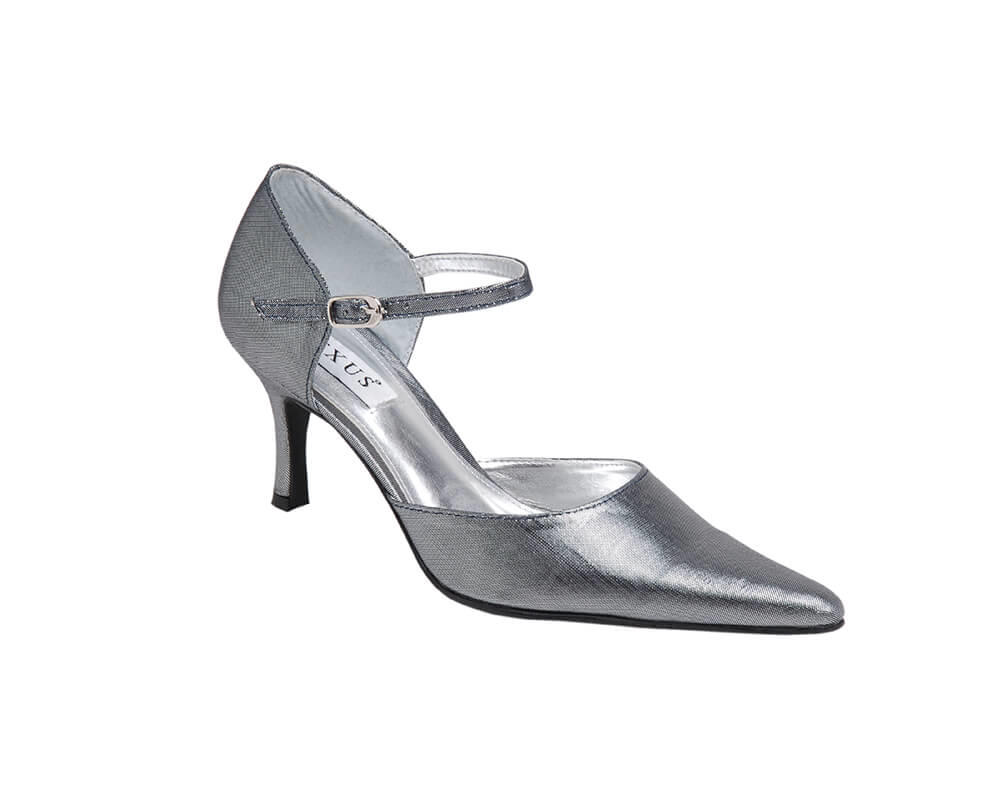 Laura in Metallic Grey