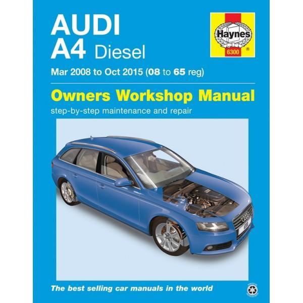 Haynes Workshop Manual Audi A4 2001-2004 Petrol Diesel Avant Service /& Repair