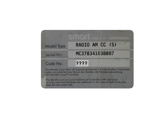 Stereo Radio Code 450 Fortwo Amp 452 Roadster