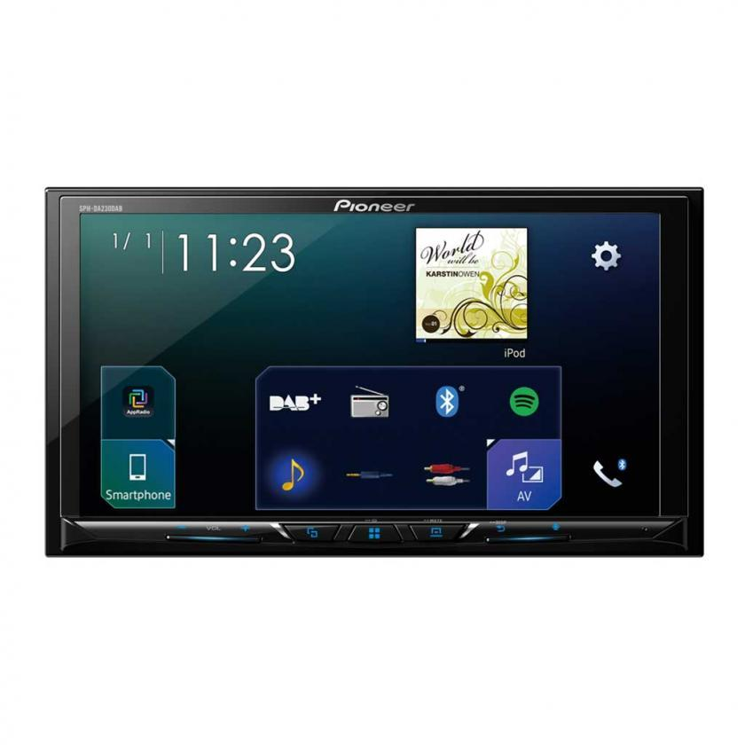 pioneer sph da230dab double din apple carplay android auto dab bluetooth usb 7 screen. Black Bedroom Furniture Sets. Home Design Ideas