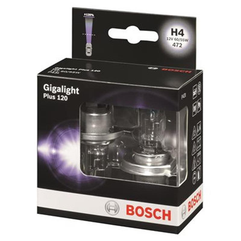 2x h4 bosch headlamp halogen 12v 60 55w p43t gigalight. Black Bedroom Furniture Sets. Home Design Ideas