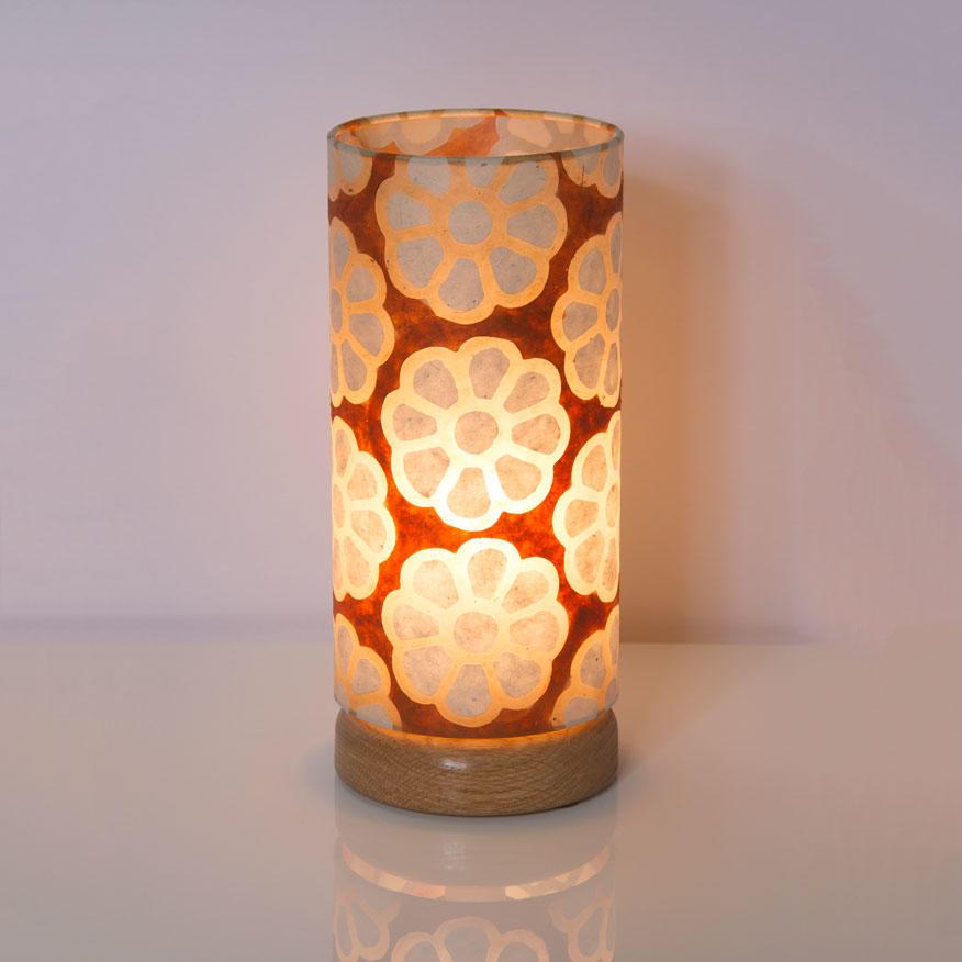 Round Flat Base Table Lamp 15cm X 30cm Shade