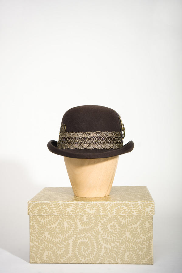 Brown Steampunk Bowler