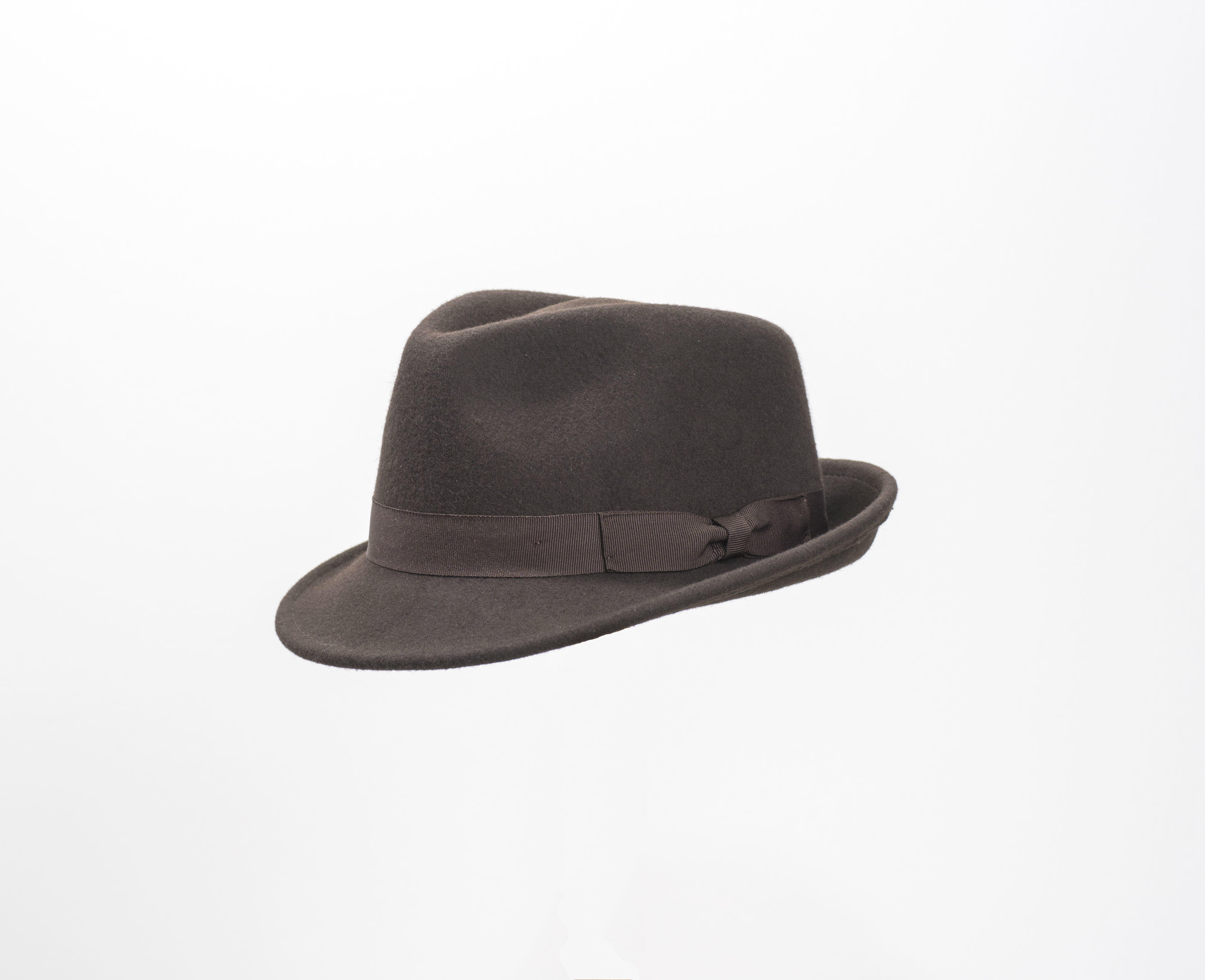 Brown wool felt trilby