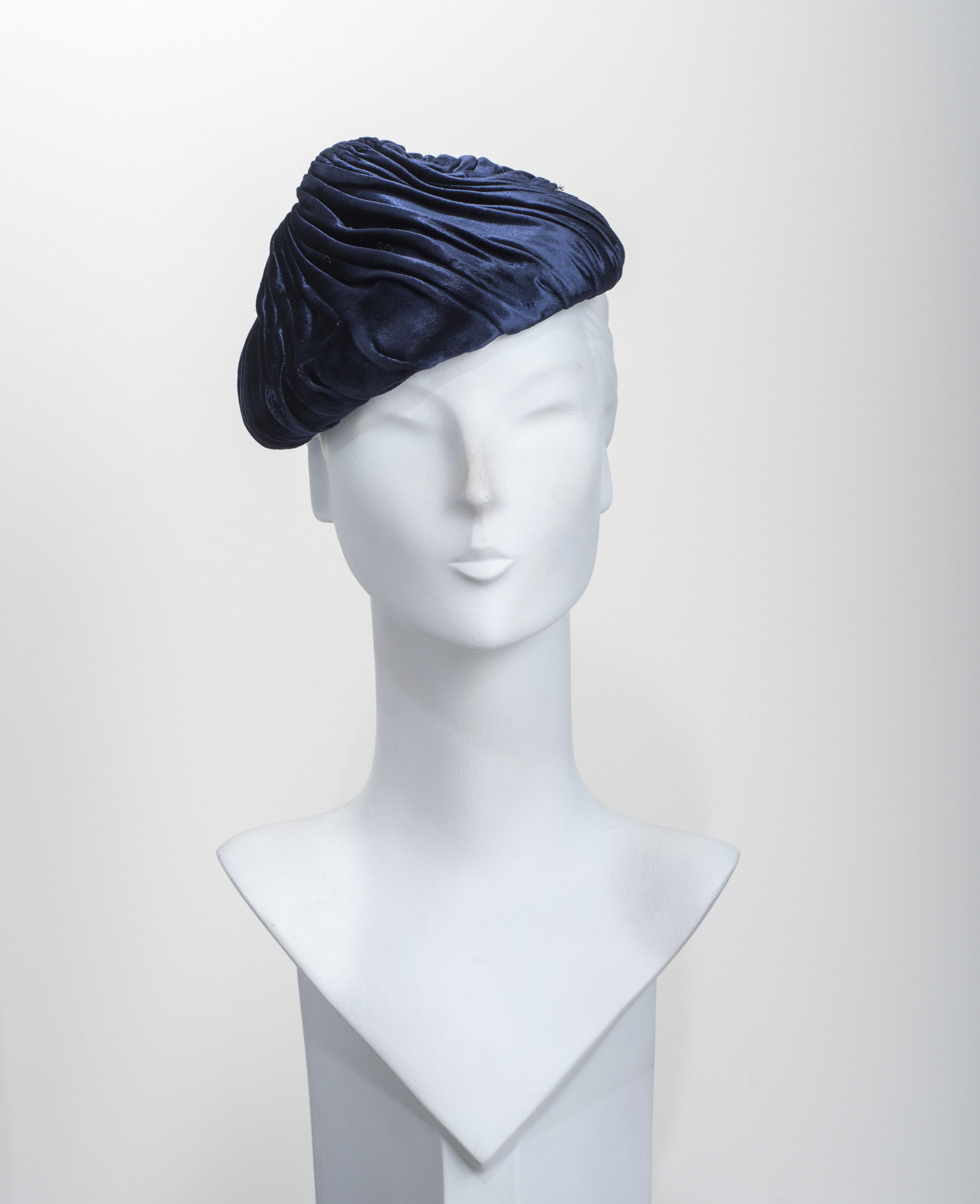 1950's Velvet Conical Percher