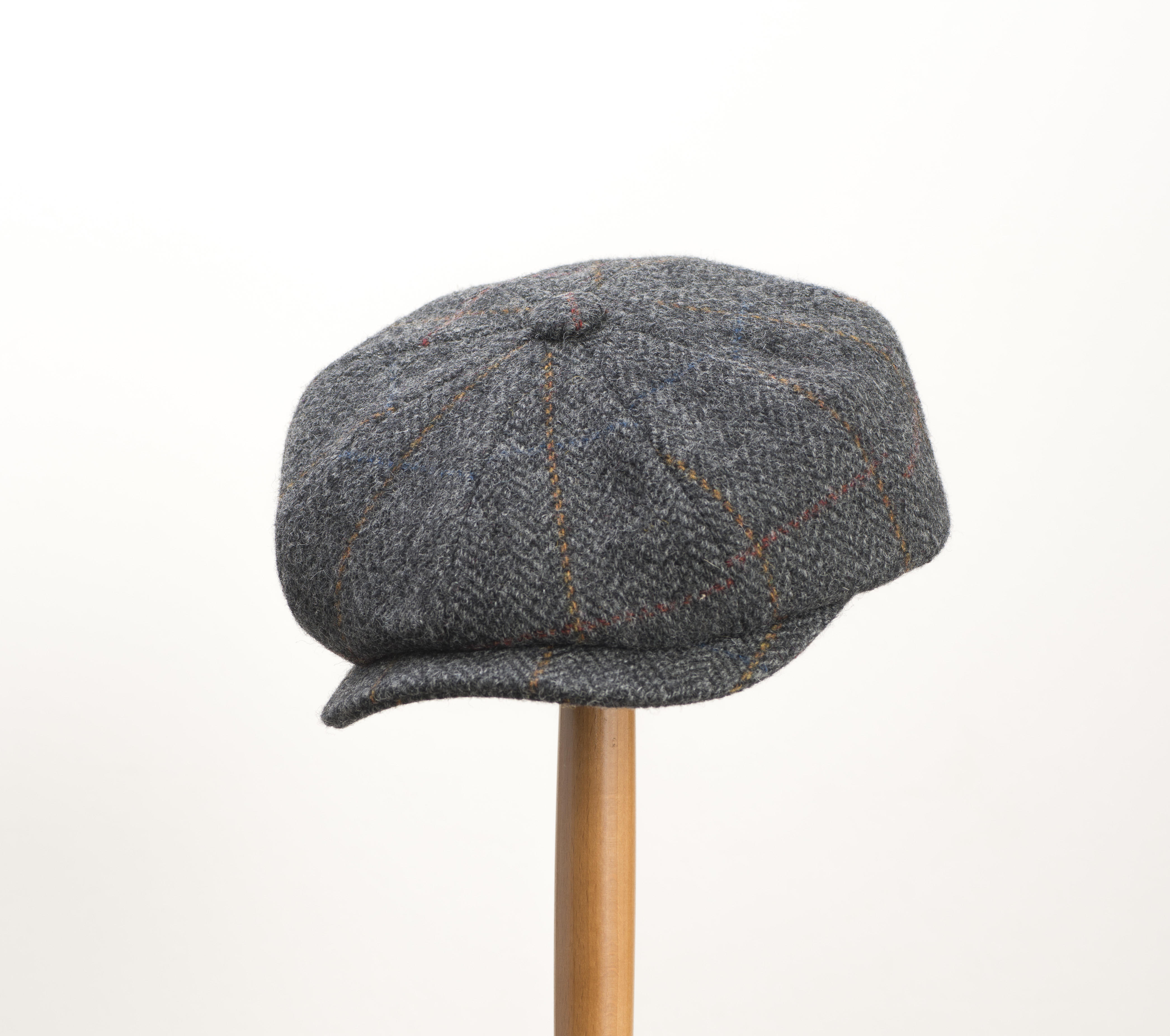 d64d29e88ae Whiteley Estate Check Tweed Newsboy Cap - Charcoal